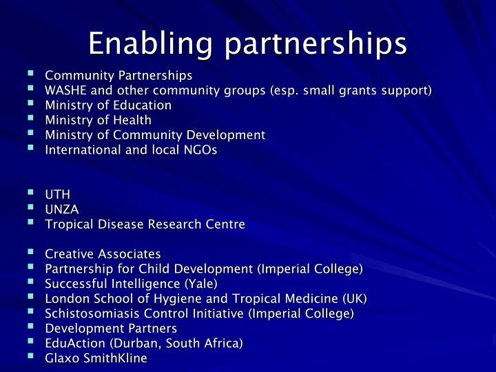 Enabling partnerships