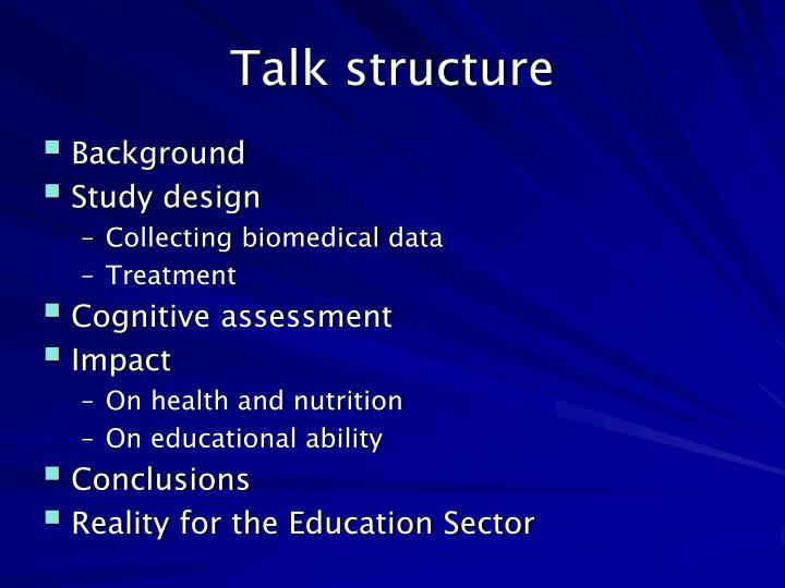 Talk structure