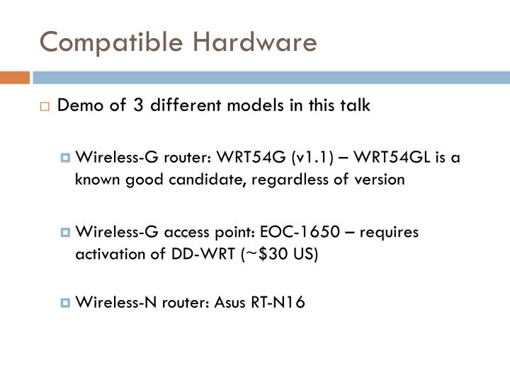 Compatible Hardware