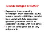 disadvantages of sage