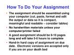 how to do your assignment2