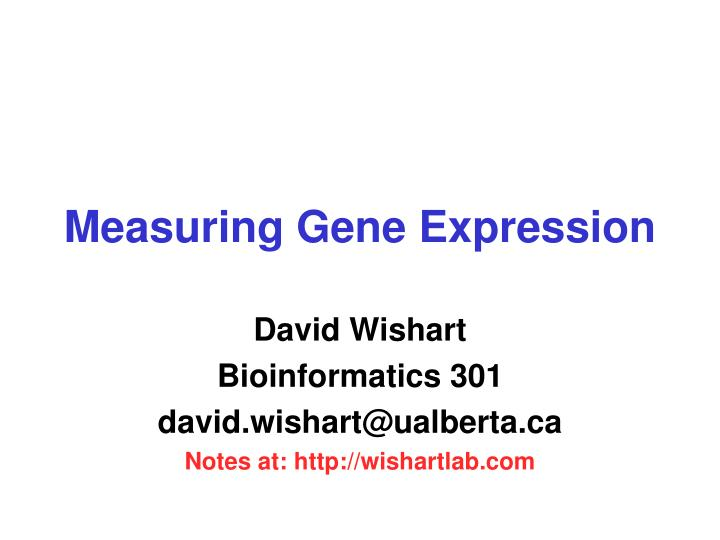 measuring gene expression n.