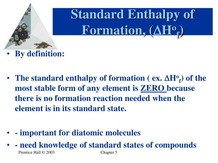 Standard Enthalpy of Formation, (