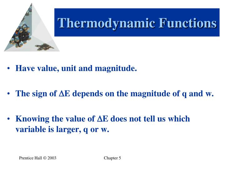 Thermodynamic Functions