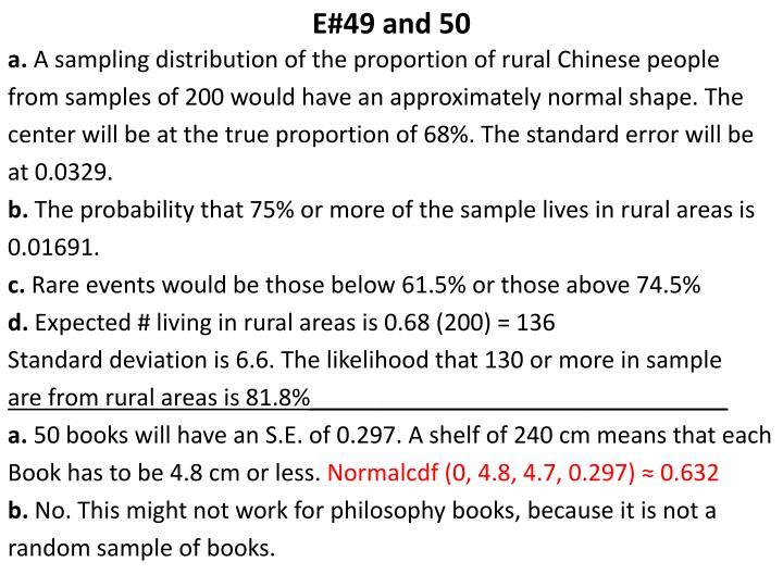 E#49 and 50
