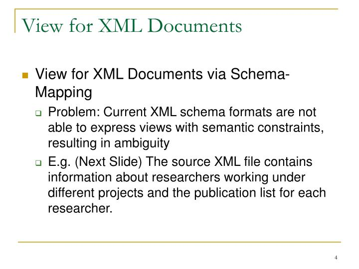 View for XML Documents