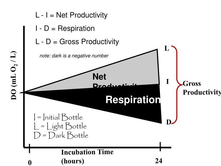 L - I = Net Productivity