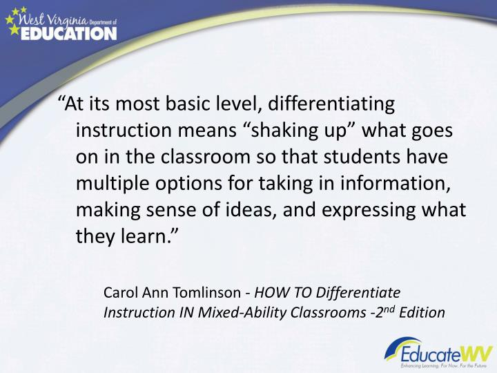 Ppt Differentiated Instruction Powerpoint Presentation Id4494411