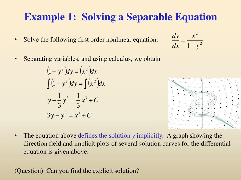 PPT - Ch 2 2: Separable Equations PowerPoint Presentation