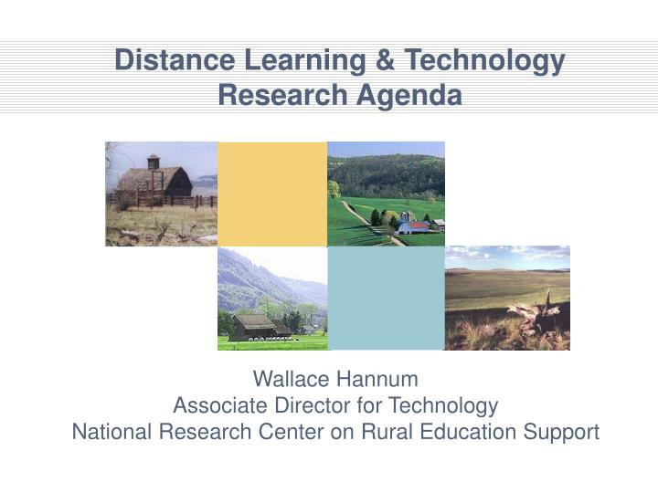 distance learning technology research agenda n.