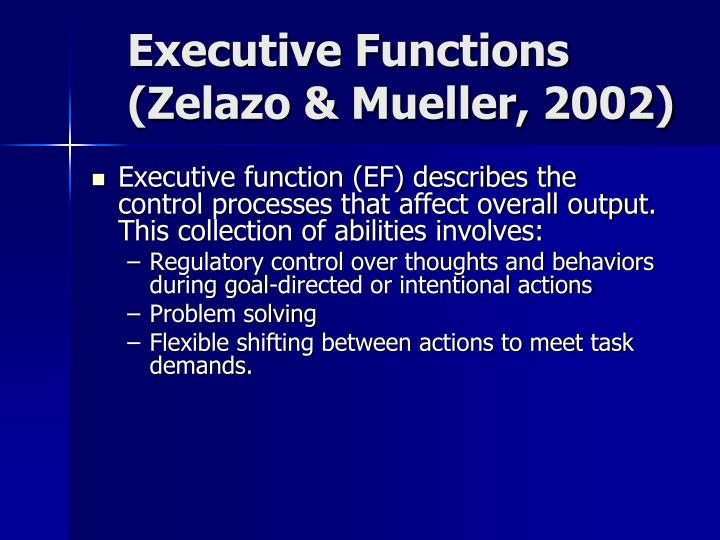 Executive Functions