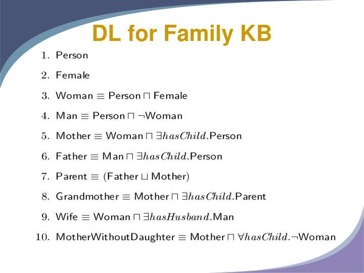 DL for Family KB