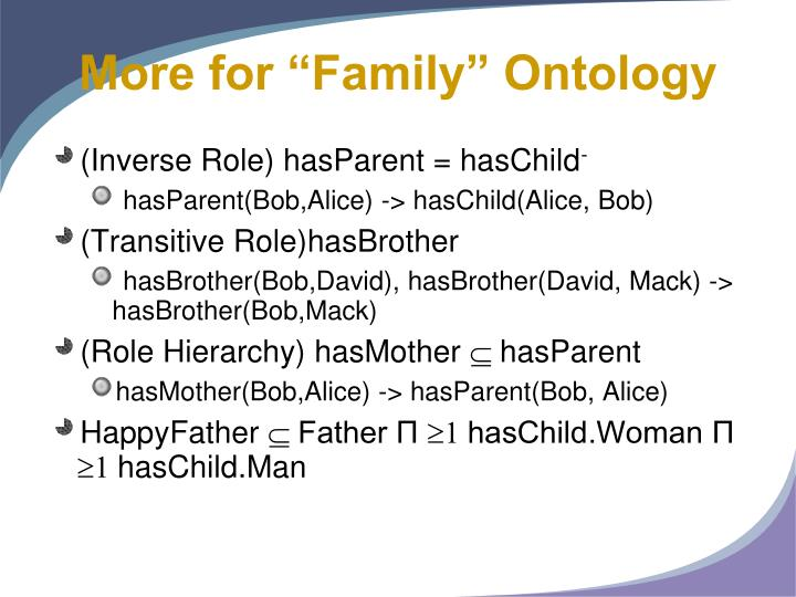 """More for """"Family"""" Ontology"""