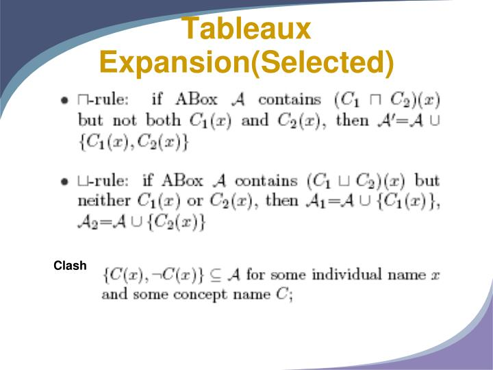 Tableaux Expansion(Selected)