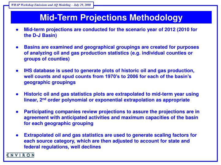 Mid-Term Projections Methodology