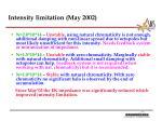 intensity limitation may 2002