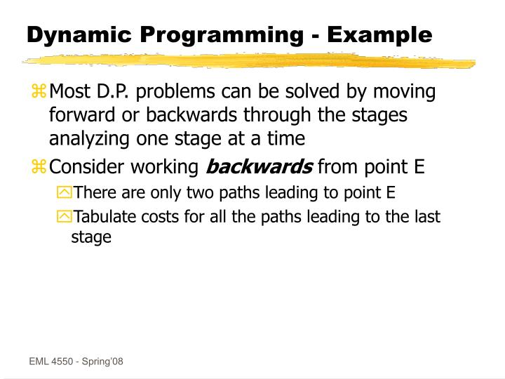 Dynamic Programming - Example