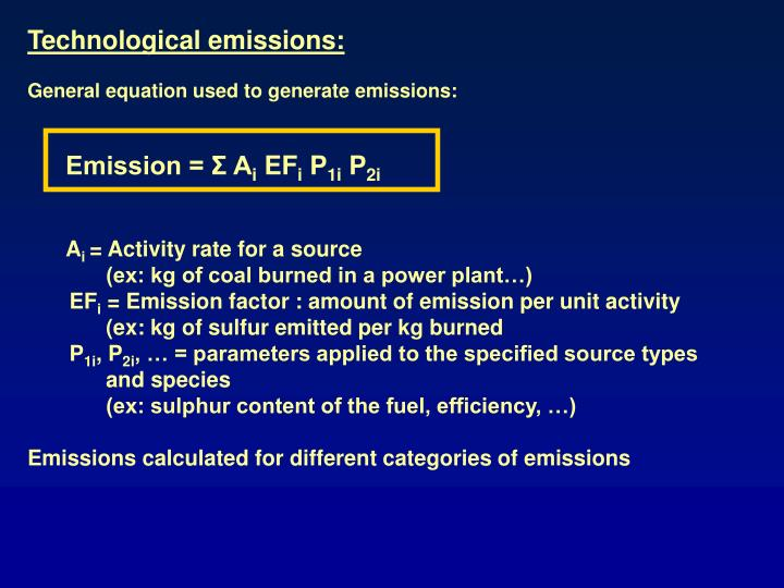 Technological emissions: