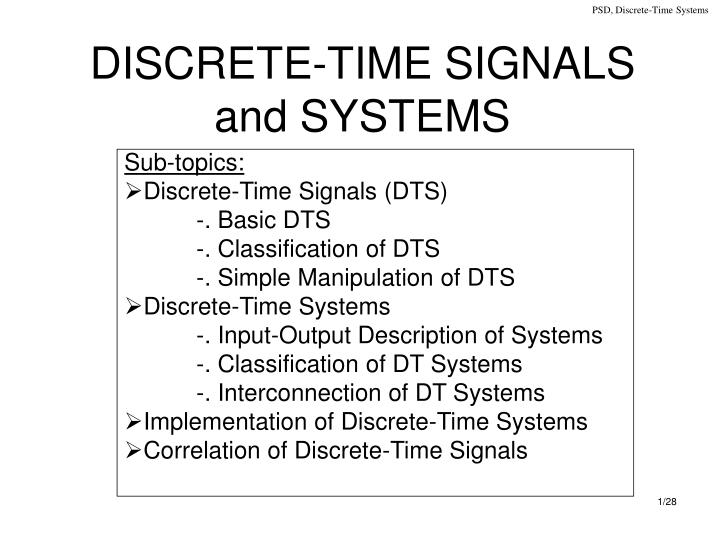 discrete time signals and systems n.
