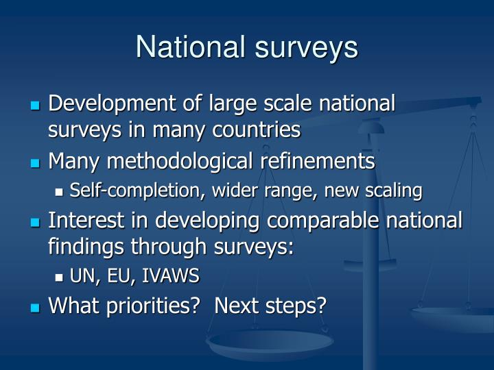 National surveys
