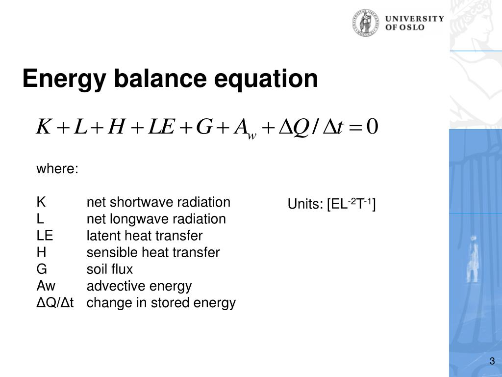 PPT - GEO3020/4020 Lecture 2: I  Energy balance II