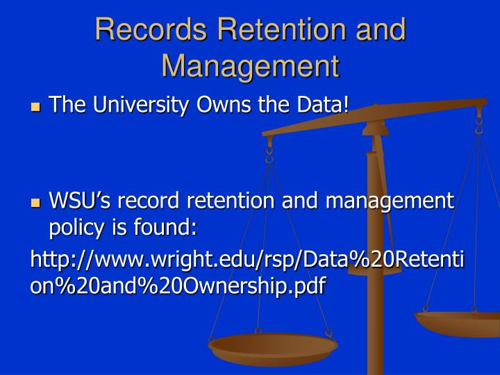 Records Retention and Management