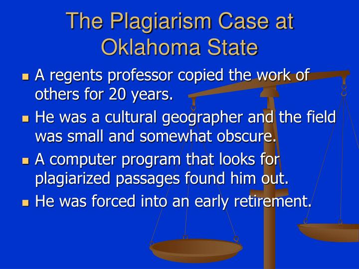 The Plagiarism Case at Oklahoma State