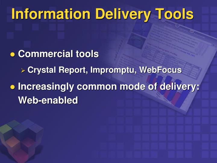 Information Delivery Tools