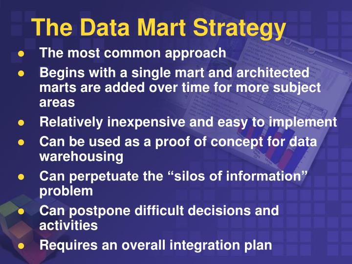 The Data Mart Strategy