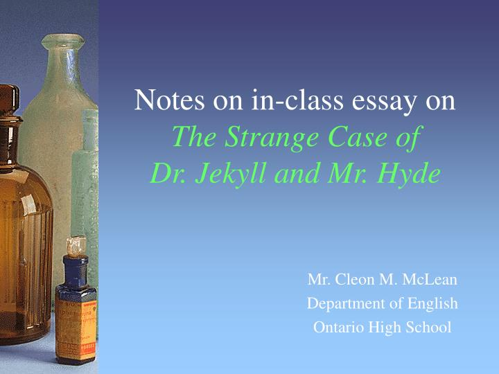 the relationship between jekyll and hyde english literature essay Good vs evil is basically the novel's biggest theme more specifically, dr jekyll and mr hyde is easily viewed as an allegory about the good and evil that exist in all men, and about our struggle with these two sides of the human personality in this book, then, the battle between good and evil.