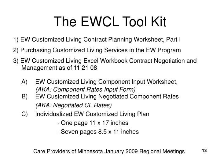The EWCL Tool Kit