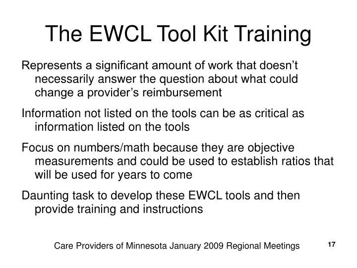 The EWCL Tool Kit Training