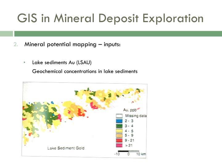 GIS in Mineral Deposit Exploration