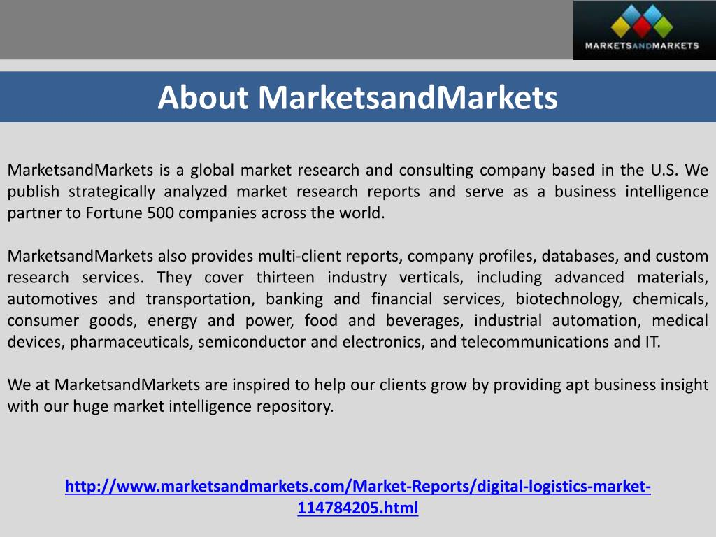 PPT - Digital Logistics Market Forecast 2019 PowerPoint