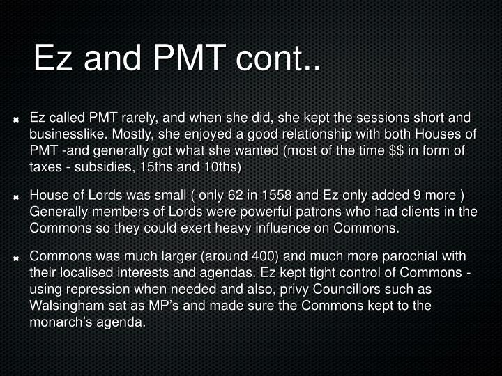 Ez and PMT cont..