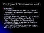 employment discrimination cont2