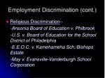 employment discrimination cont3