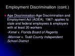 employment discrimination cont4