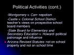 political activities cont