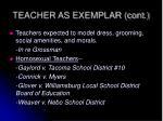 teacher as exemplar cont