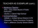 teacher as exemplar cont1