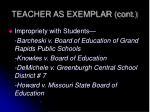 teacher as exemplar cont2