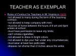 teacher as exemplar