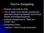 teacher bargaining