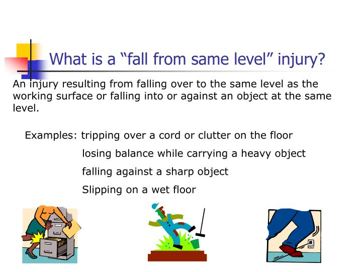 """What is a """"fall from same level"""" injury?"""