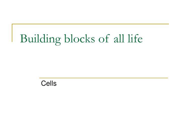 Building blocks of all life
