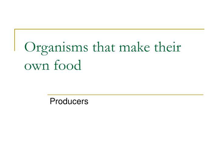 Organisms that make their own food