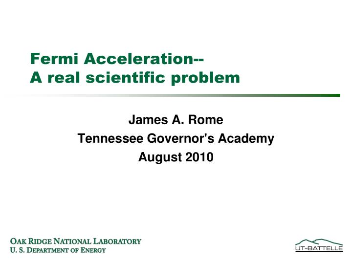 james a rome tennessee governor s academy august 2010 n.