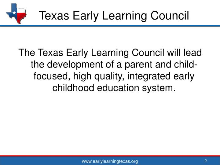 Texas early learning council