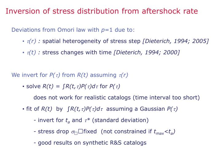 Inversion of stress distribution from aftershock rate